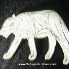 Tiger Silver Brooch