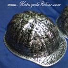 Helm Ukir Silver
