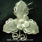 Elegan Flower Silver