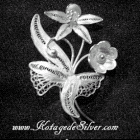 Antique Flower Silver