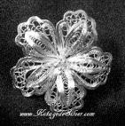 Bakawali Flower Silver